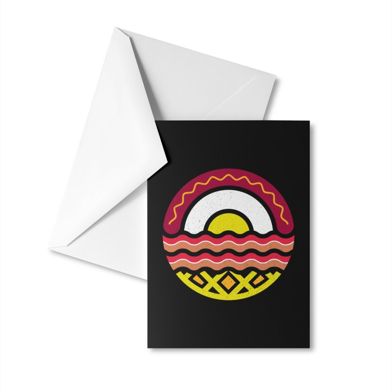 Breakfast at sunrise Accessories Greeting Card by heavyhand's Artist Shop