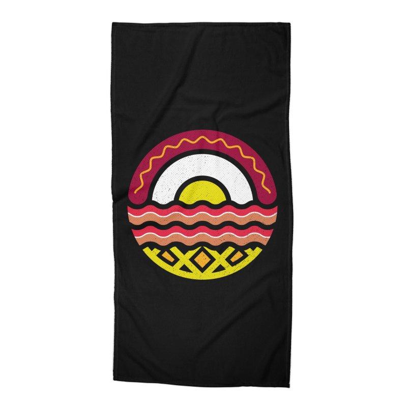 Breakfast at sunrise Accessories Beach Towel by heavyhand's Artist Shop