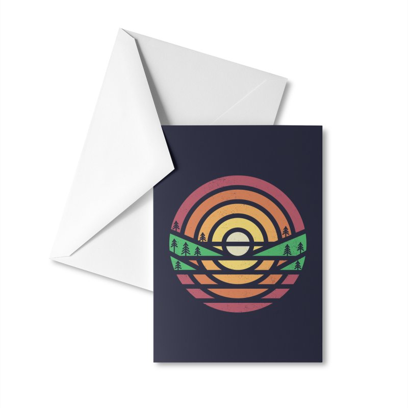 Sunset Accessories Greeting Card by heavyhand's Artist Shop