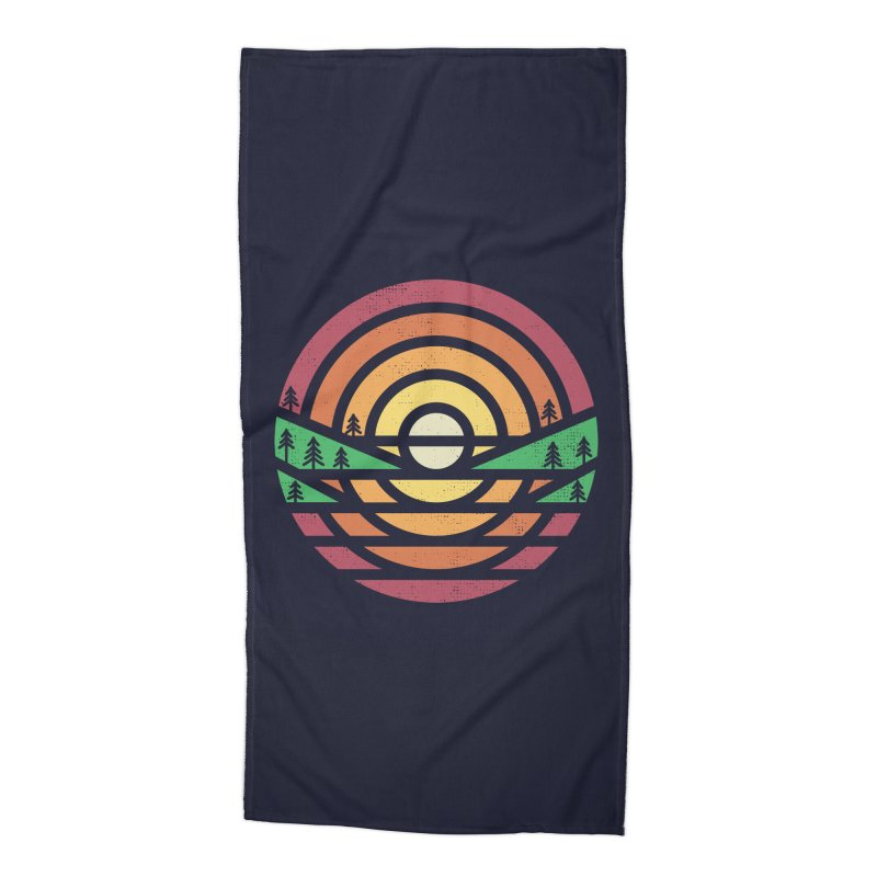 Sunset Accessories Beach Towel by heavyhand's Artist Shop