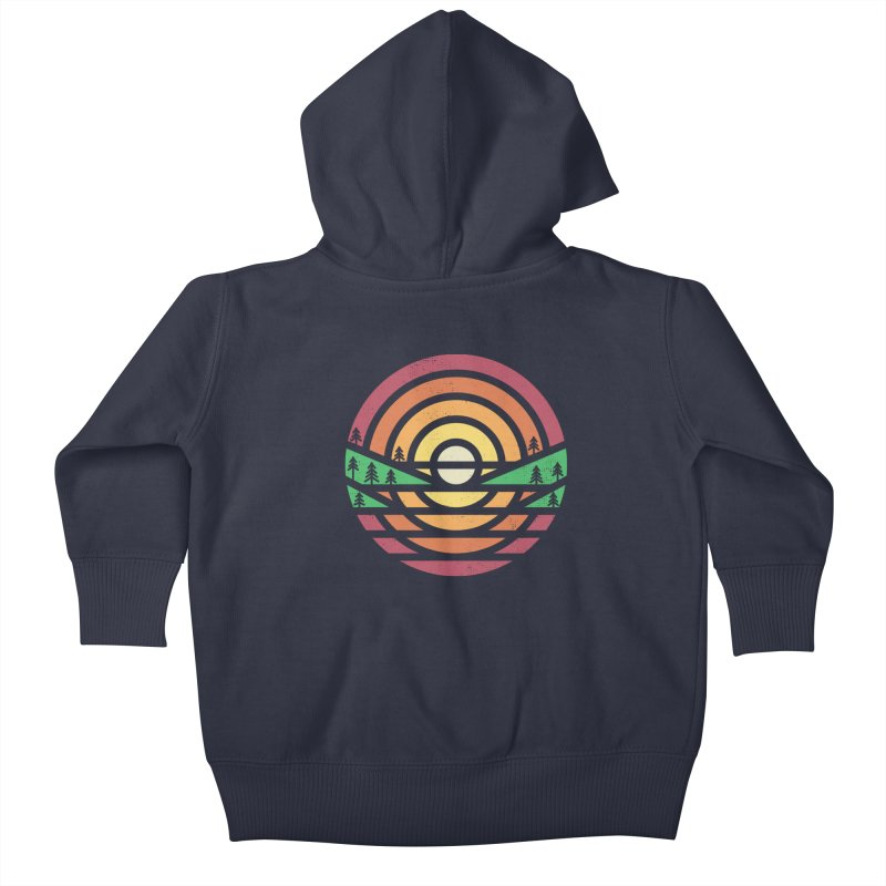 Sunset Kids Baby Zip-Up Hoody by heavyhand's Artist Shop