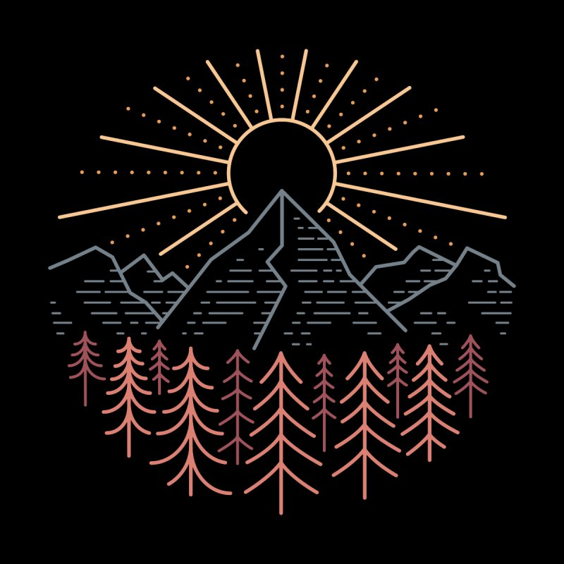 Mountain High Men's T-Shirt by heavyhand's Artist Shop