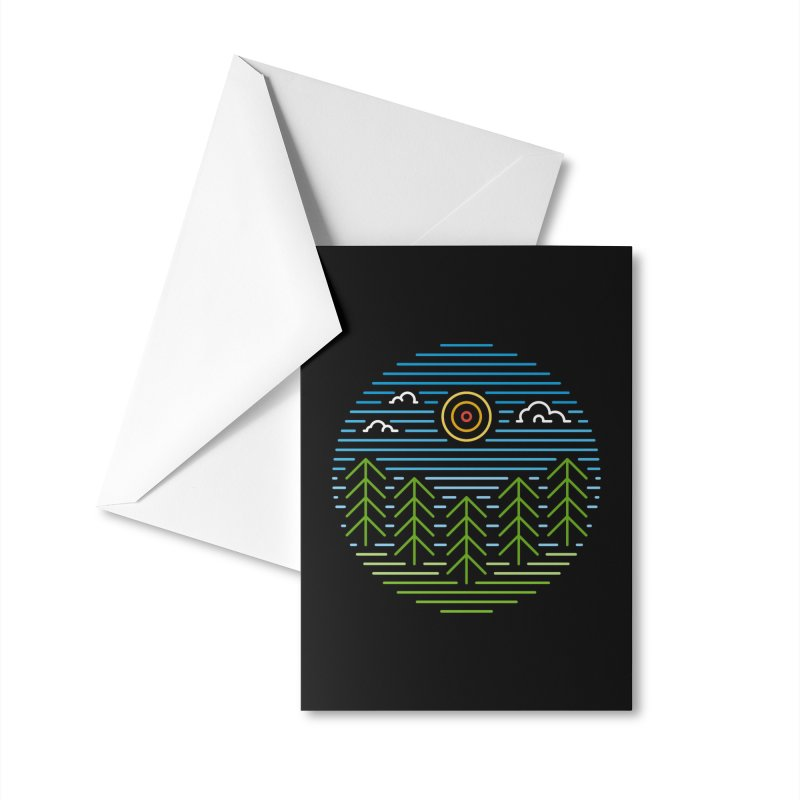 Linear Woods Accessories Greeting Card by heavyhand's Artist Shop