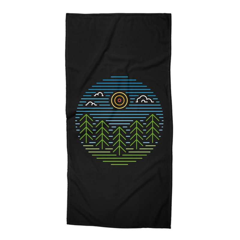 Linear Woods Accessories Beach Towel by heavyhand's Artist Shop
