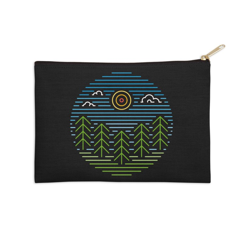 Linear Woods Accessories Zip Pouch by heavyhand's Artist Shop