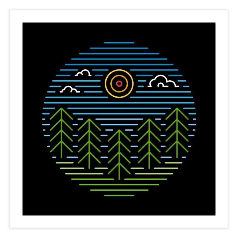 Linear Woods Home Fine Art Print by heavyhand's Artist Shop