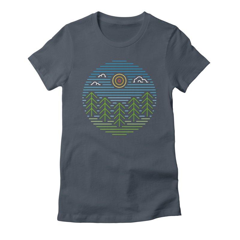 Linear Woods Women's T-Shirt by heavyhand's Artist Shop
