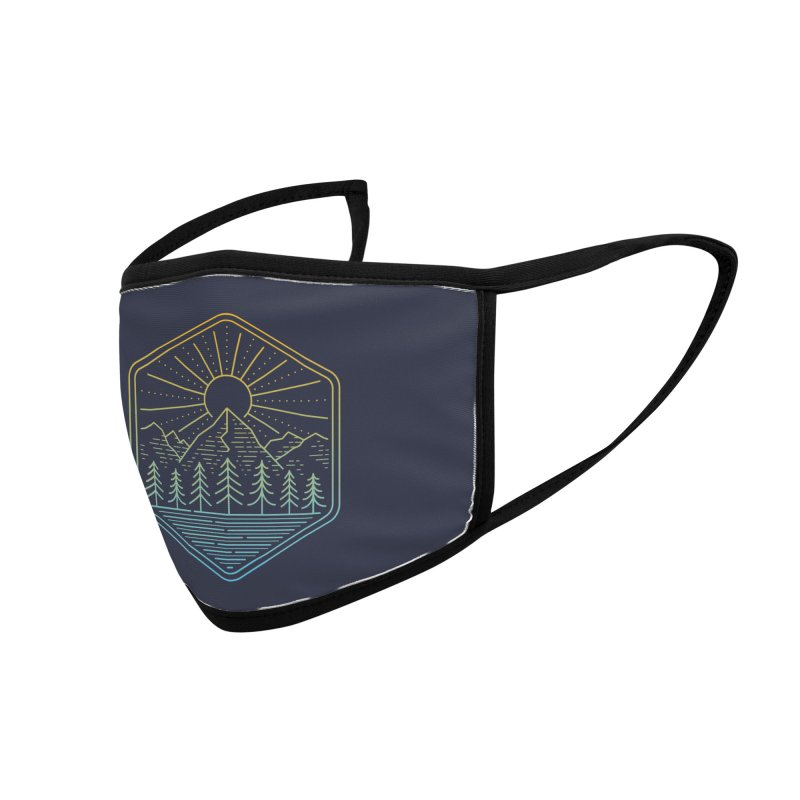 Mountain Rays Accessories Face Mask by heavyhand's Artist Shop