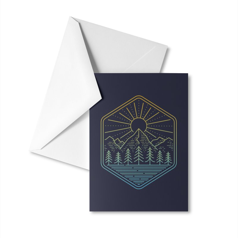 Mountain Rays Accessories Greeting Card by heavyhand's Artist Shop