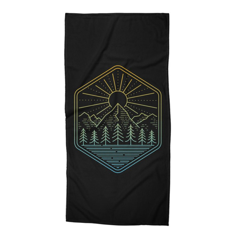 Mountain Rays Accessories Beach Towel by heavyhand's Artist Shop