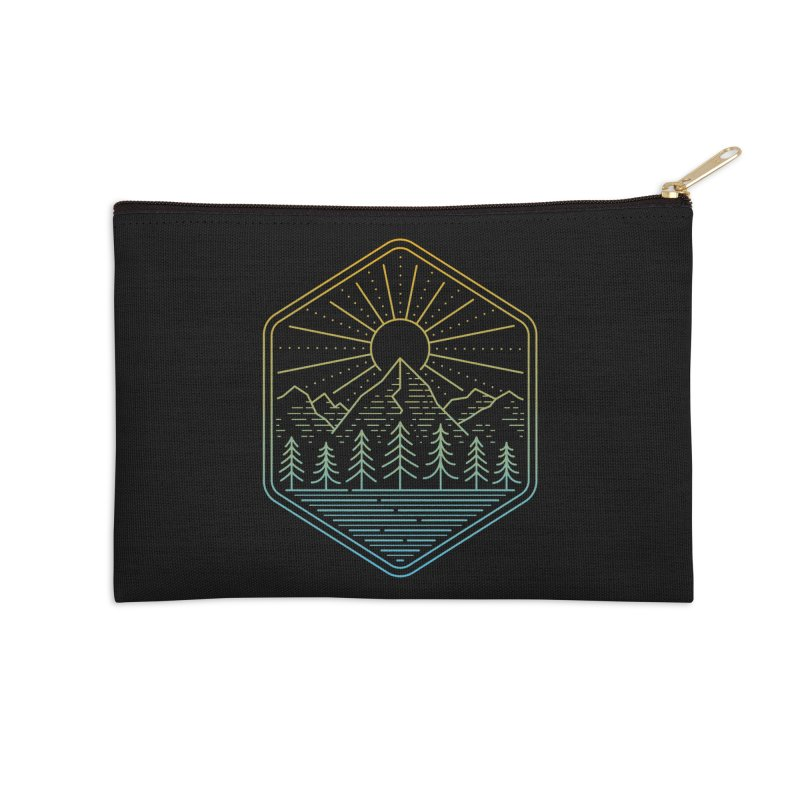 Mountain Rays Accessories Zip Pouch by heavyhand's Artist Shop