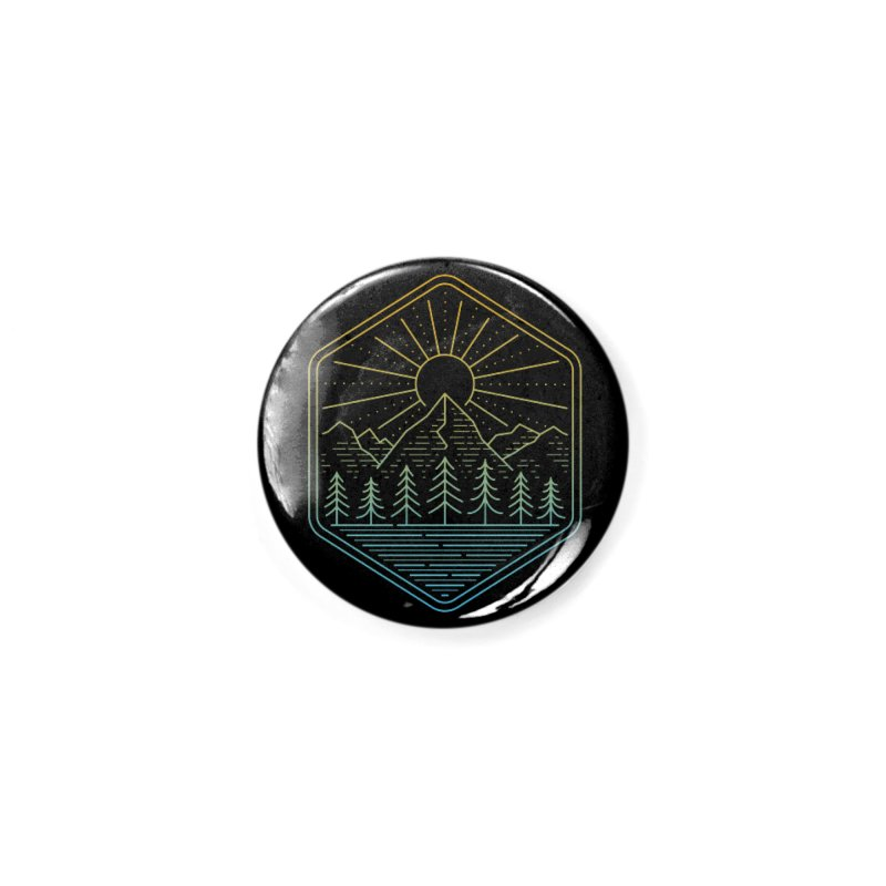 Mountain Rays Accessories Button by heavyhand's Artist Shop