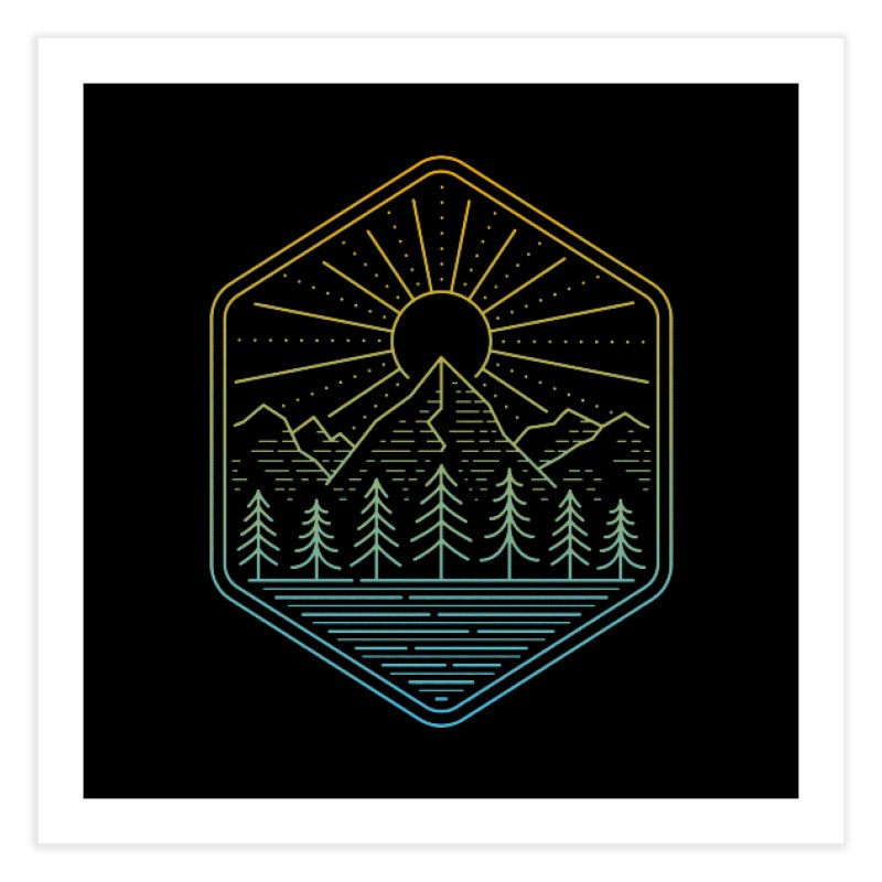 Mountain Rays Home Fine Art Print by heavyhand's Artist Shop