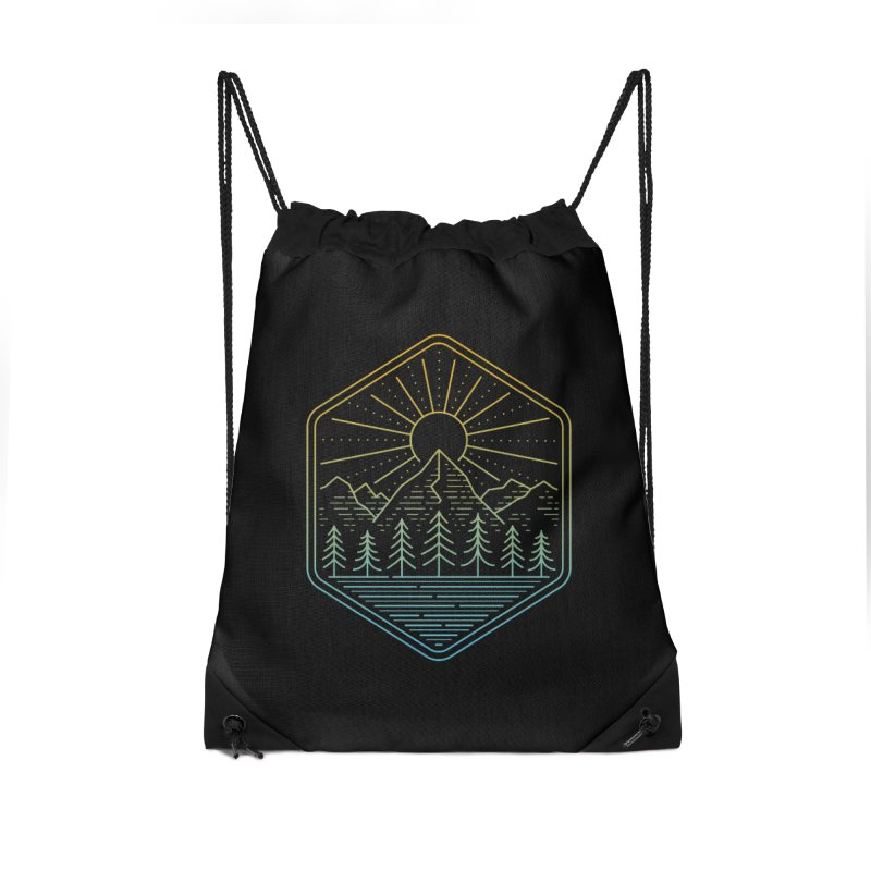 Mountain Rays Accessories Bag by heavyhand's Artist Shop