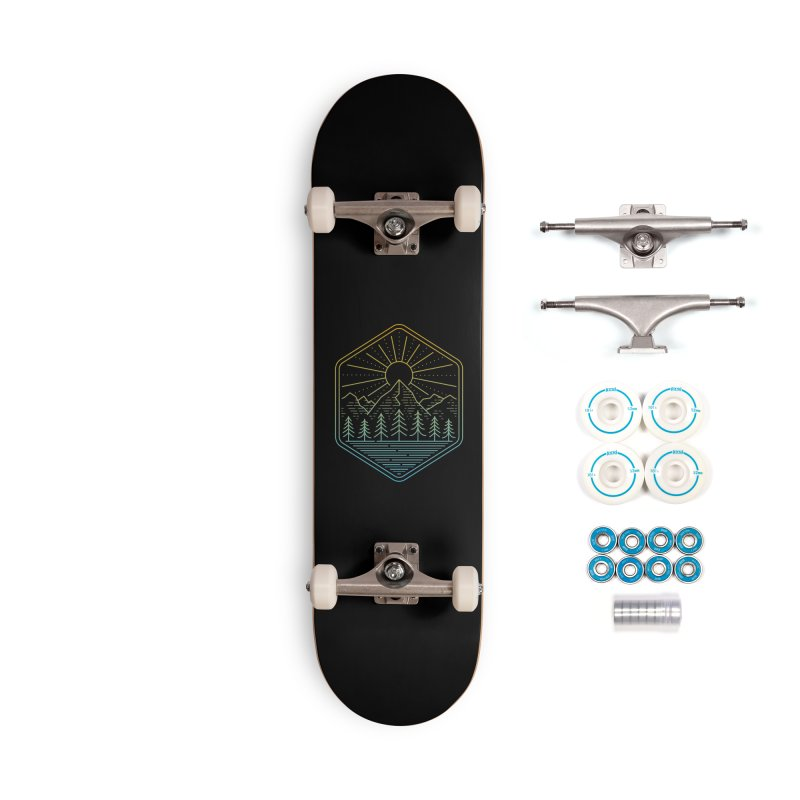 Mountain Rays Accessories Skateboard by heavyhand's Artist Shop