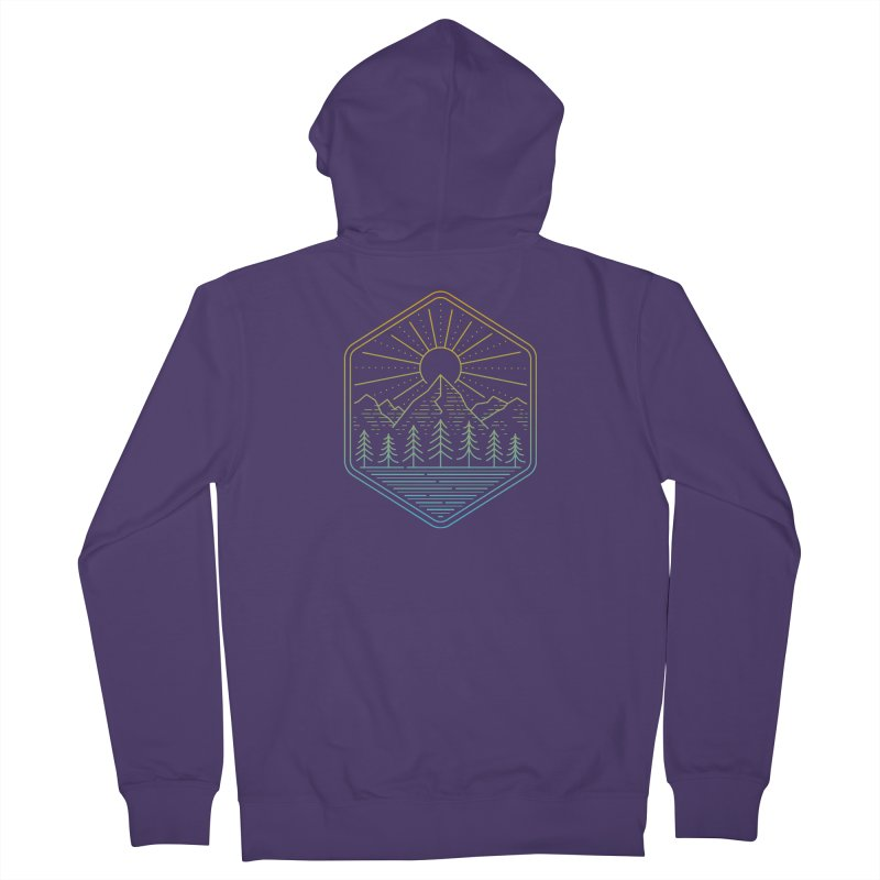 Mountain Rays Women's Zip-Up Hoody by heavyhand's Artist Shop