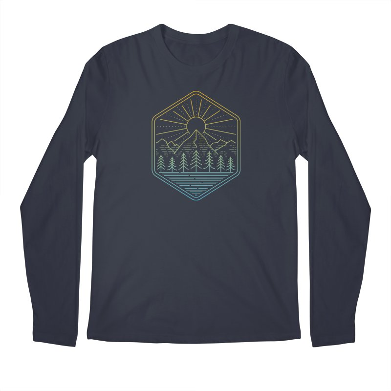 Mountain Rays Men's Longsleeve T-Shirt by heavyhand's Artist Shop