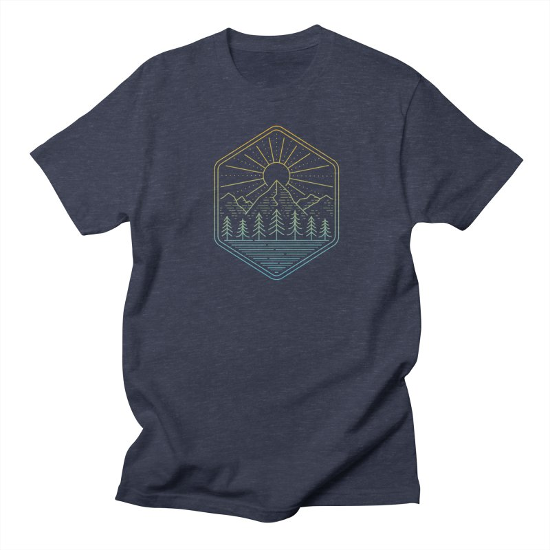 Mountain Rays Men's T-Shirt by heavyhand's Artist Shop