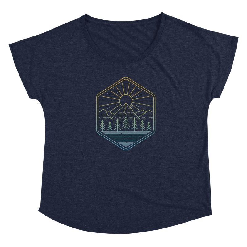 Mountain Rays Women's Scoop Neck by heavyhand's Artist Shop