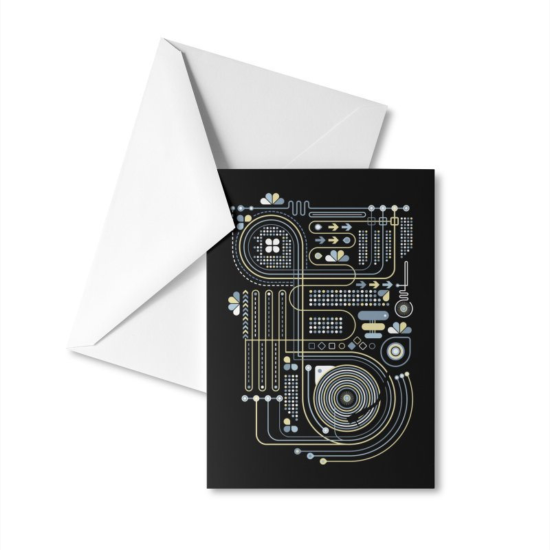 Circuit 02 Accessories Greeting Card by heavyhand's Artist Shop