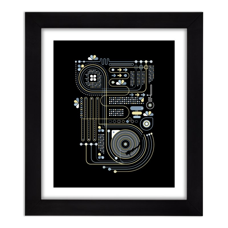 Circuit 02 Home Framed Fine Art Print by heavyhand's Artist Shop