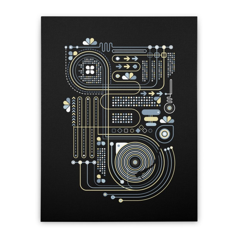 Circuit 02 Home Stretched Canvas by heavyhand's Artist Shop
