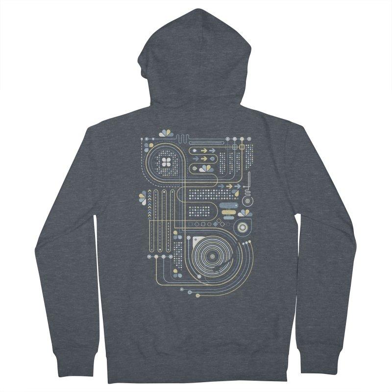 Circuit 02 Men's Zip-Up Hoody by heavyhand's Artist Shop