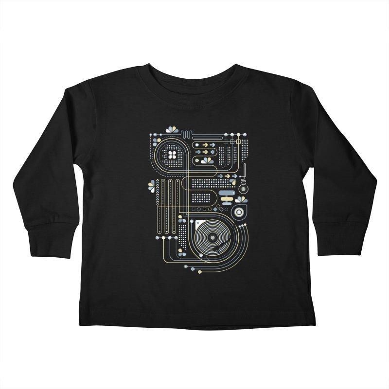 Circuit 02 Kids Toddler Longsleeve T-Shirt by heavyhand's Artist Shop