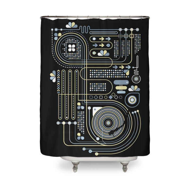 Circuit 02 Home Shower Curtain by heavyhand's Artist Shop