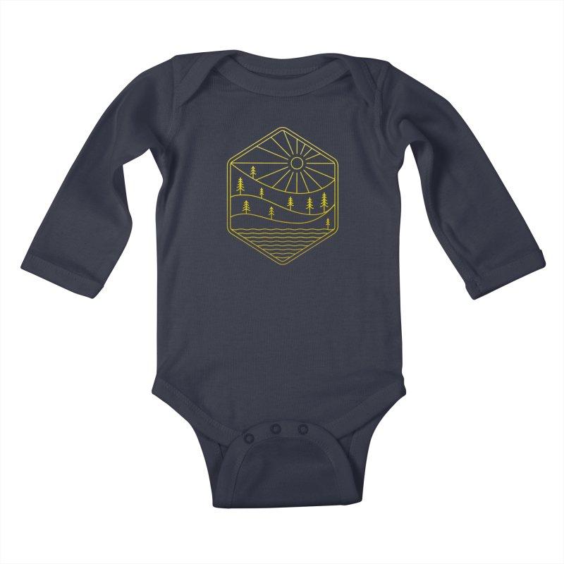 Hinterland Kids Baby Longsleeve Bodysuit by heavyhand's Artist Shop