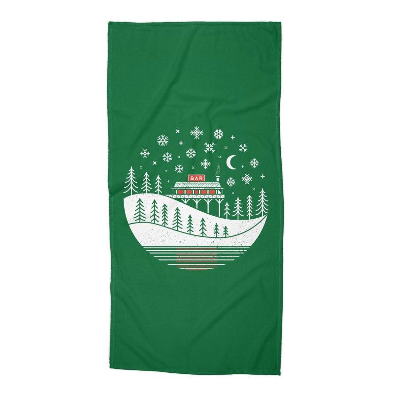 Winter Wonderland Accessories Beach Towel by heavyhand's Artist Shop