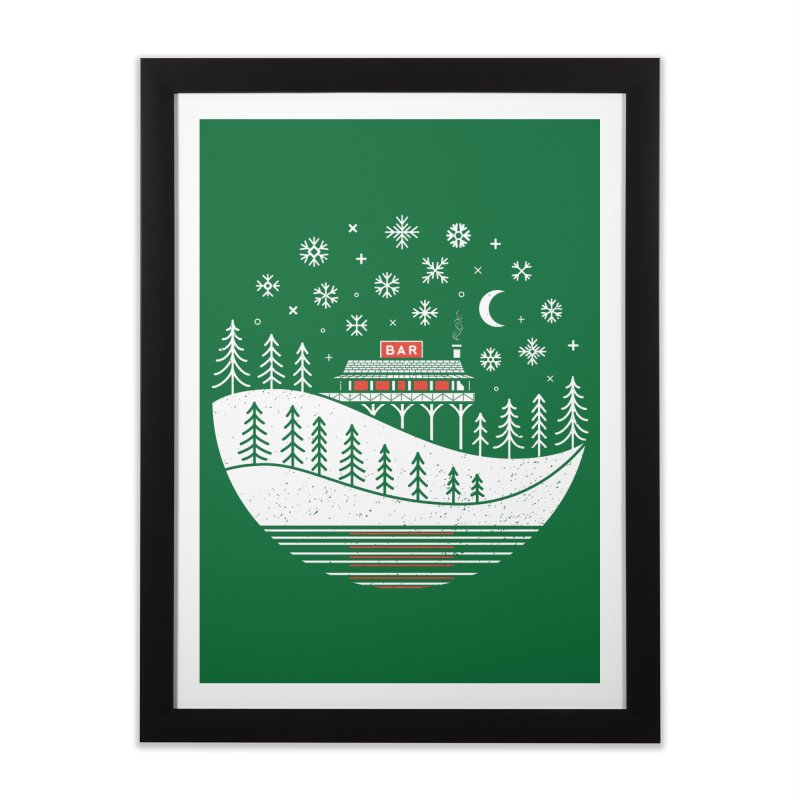 Winter Wonderland Home Framed Fine Art Print by heavyhand's Artist Shop