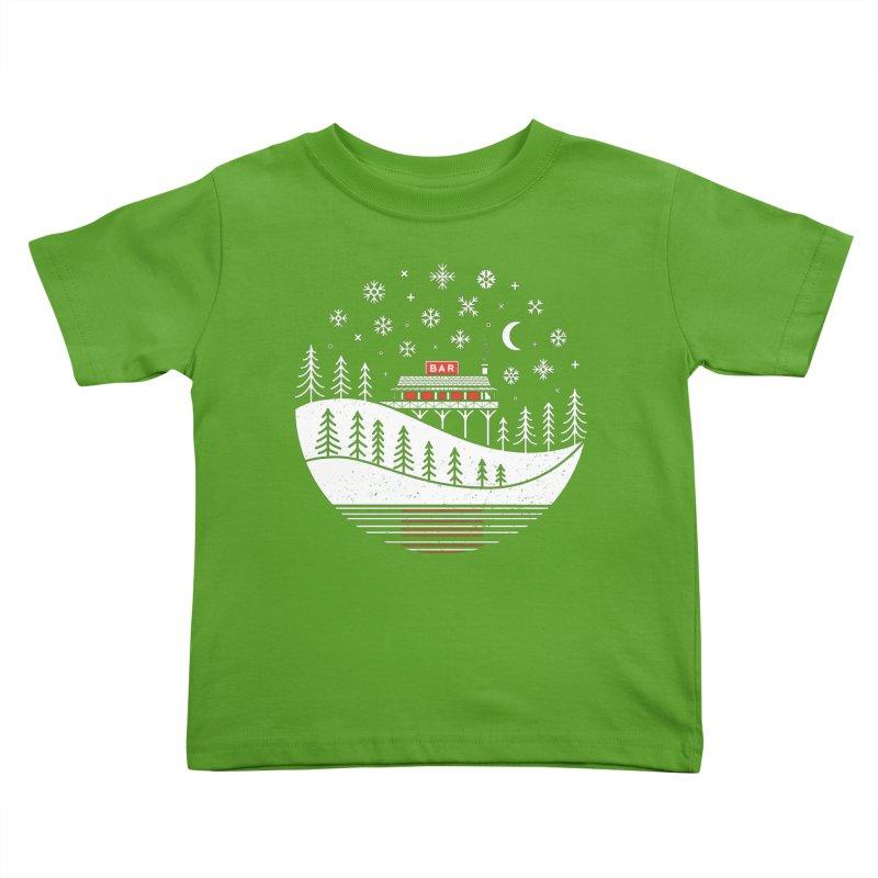Winter Wonderland Kids Toddler T-Shirt by heavyhand's Artist Shop