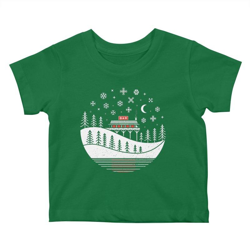 Winter Wonderland Kids Baby T-Shirt by heavyhand's Artist Shop
