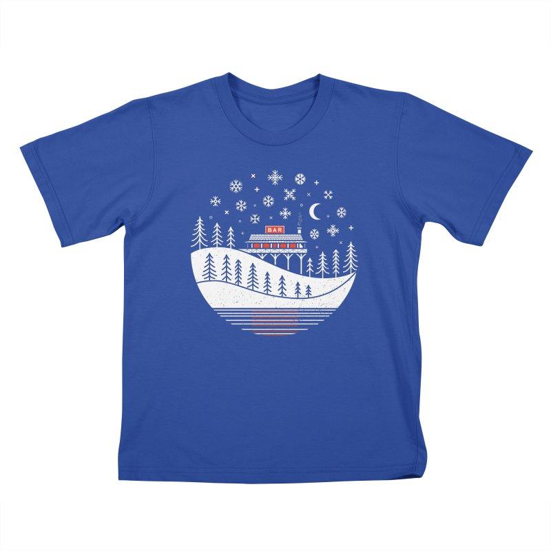 Winter Wonderland Kids T-Shirt by heavyhand's Artist Shop