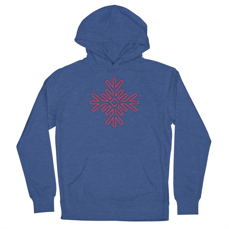 Neon Snowflake Red Women's Pullover Hoody by heavyhand's Artist Shop