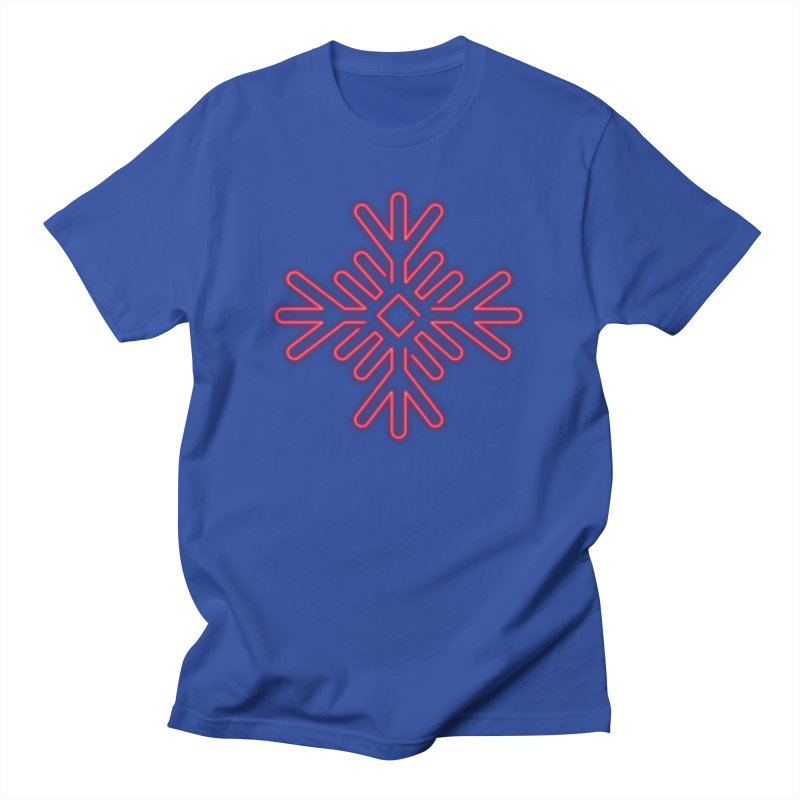 Neon Snowflake Red Men's T-Shirt by heavyhand's Artist Shop