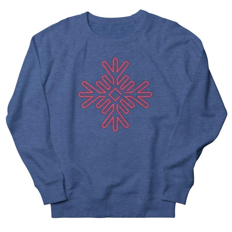 Neon Snowflake Red Men's Sweatshirt by heavyhand's Artist Shop