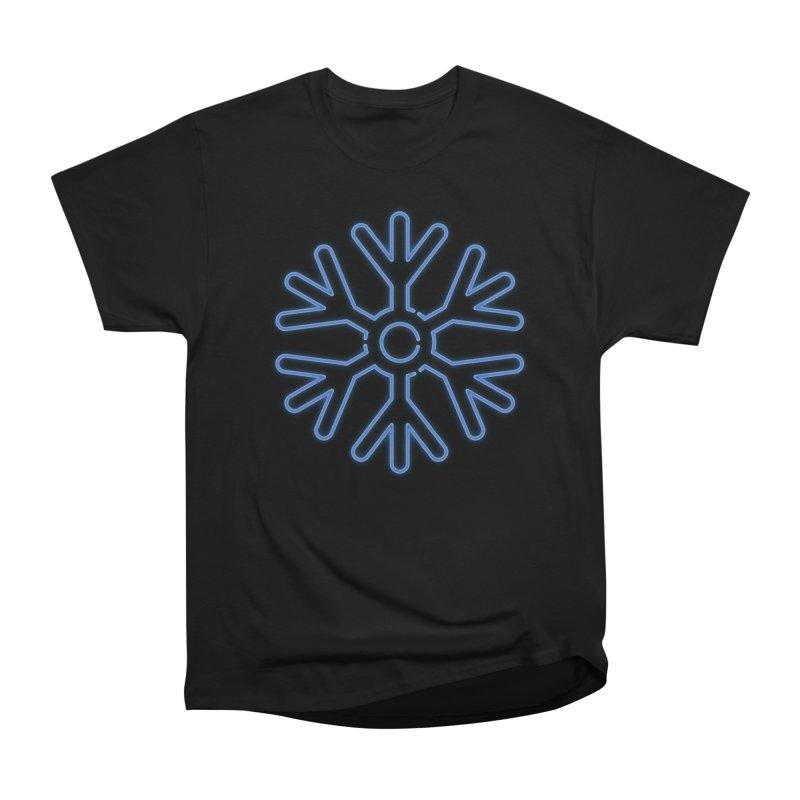 Neon Snowflake Blue Men's T-Shirt by heavyhand's Artist Shop