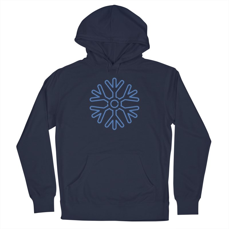 Neon Snowflake Blue Men's Pullover Hoody by heavyhand's Artist Shop