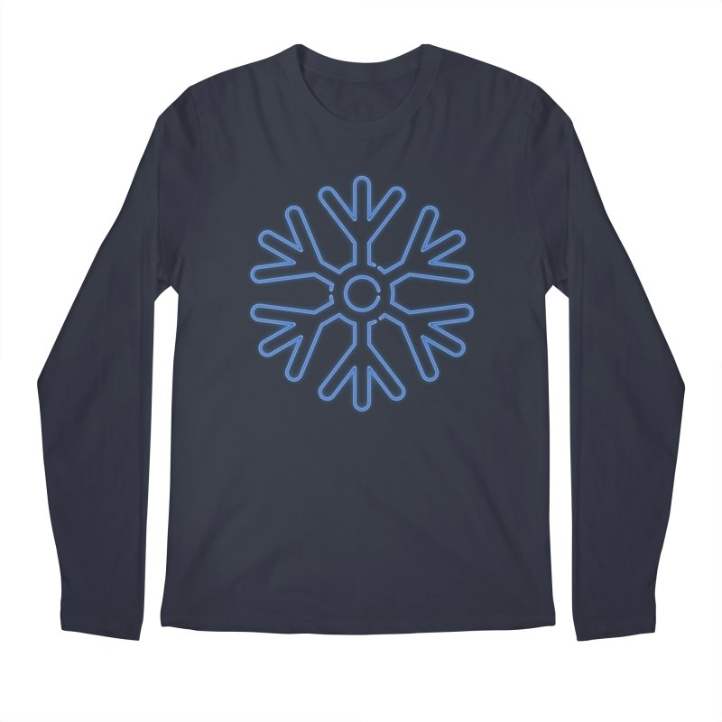 Neon Snowflake Blue Men's Longsleeve T-Shirt by heavyhand's Artist Shop