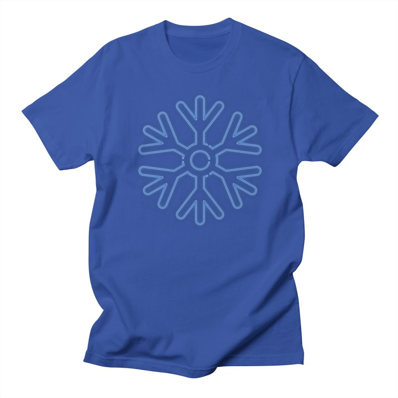 Neon Snowflake Blue Men's T-Shirt by heavyhand's Artist Shop