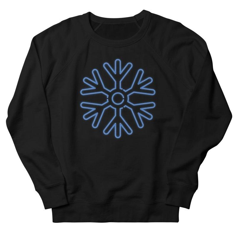 Neon Snowflake Blue Men's Sweatshirt by heavyhand's Artist Shop
