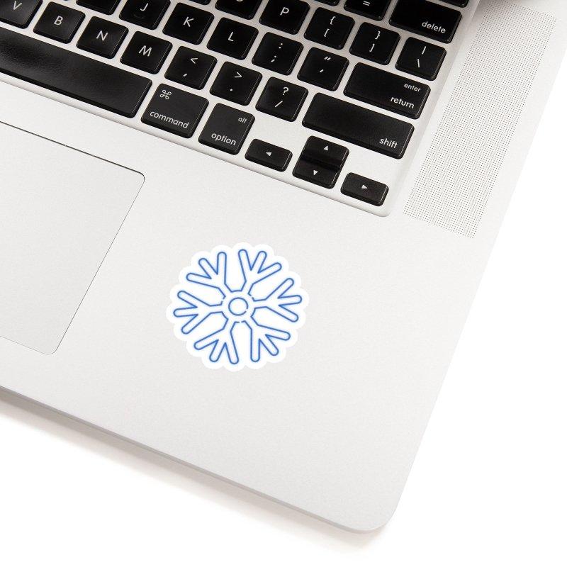 Neon Snowflake Blue Accessories Sticker by heavyhand's Artist Shop