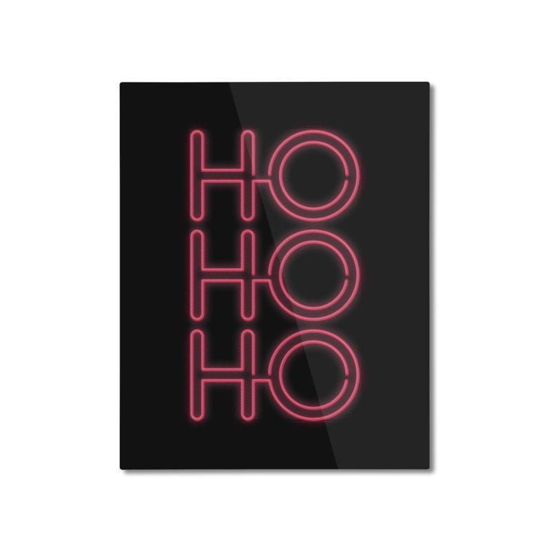 Ho Ho Ho Home Mounted Aluminum Print by heavyhand's Artist Shop
