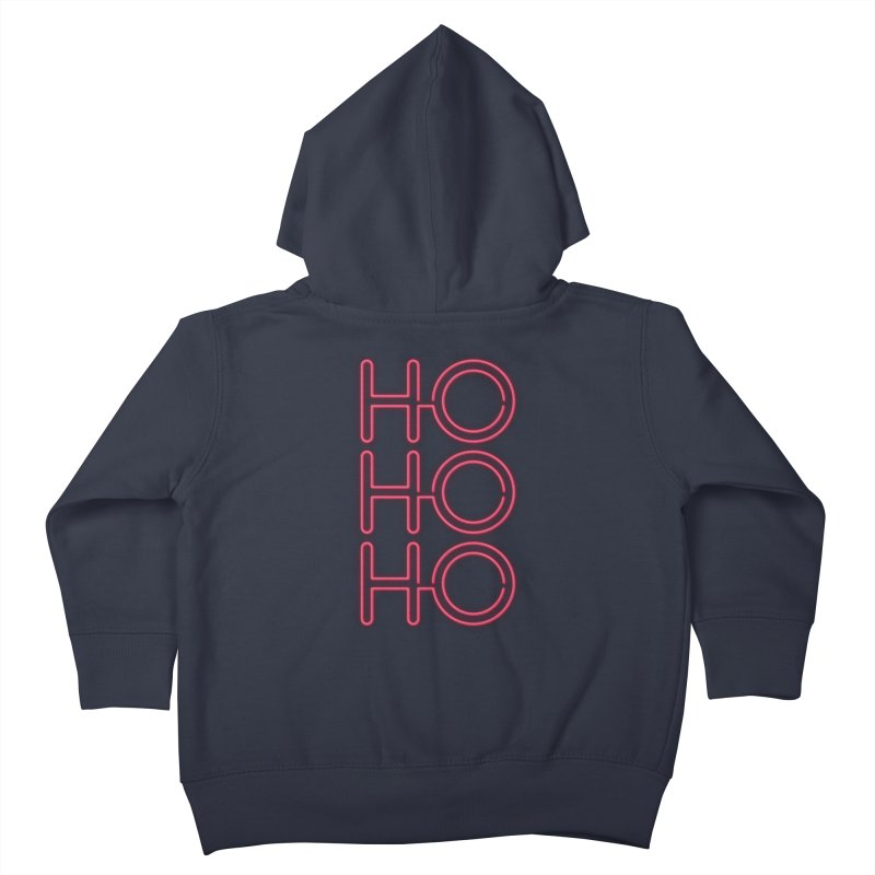 Ho Ho Ho Kids Toddler Zip-Up Hoody by heavyhand's Artist Shop