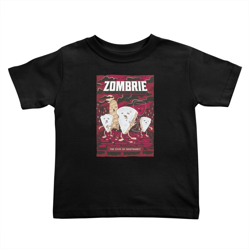 Zombrie Kids Toddler T-Shirt by heavyhand's Artist Shop