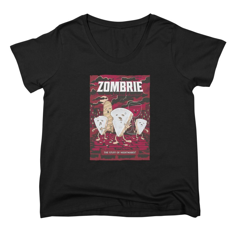 Zombrie Women's Scoop Neck by heavyhand's Artist Shop