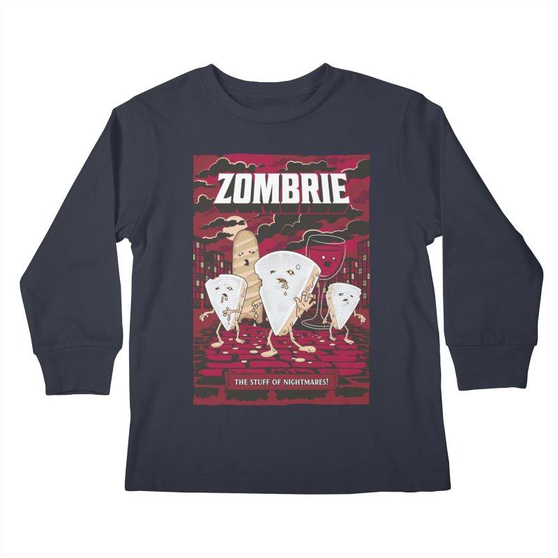 Zombrie Kids Longsleeve T-Shirt by heavyhand's Artist Shop