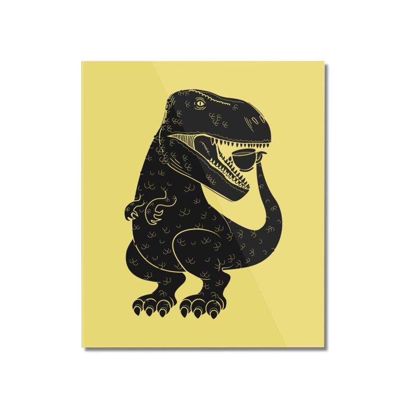 Tea-Rex Home Mounted Acrylic Print by heavyhand's Artist Shop